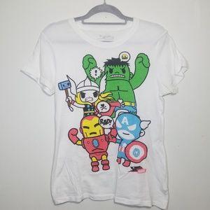 🆕️ Tokidoki x Marvel Avengers white t-shirt